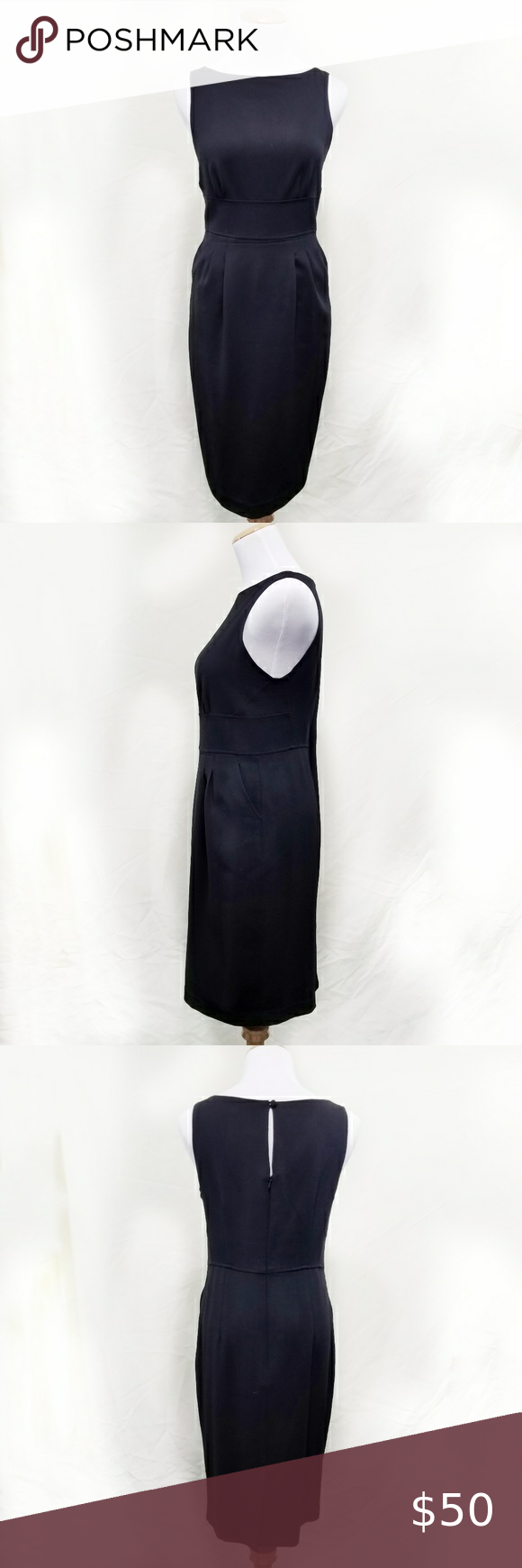 Magaschoni Wool Little Black Dress With Pockets 4 Black Dress With Pockets Little Black Dress Dress Size Chart Women