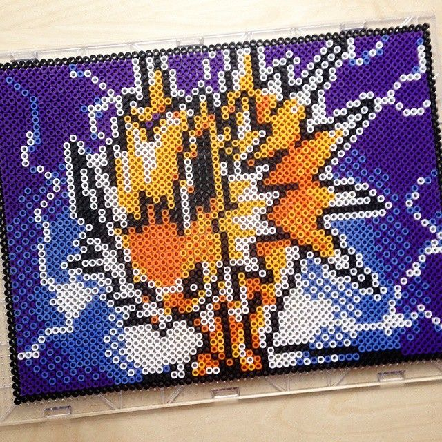 jolteon pokemon perler beads by chocobicakes kiddo crafts pinterest b gelperlen vorlagen. Black Bedroom Furniture Sets. Home Design Ideas