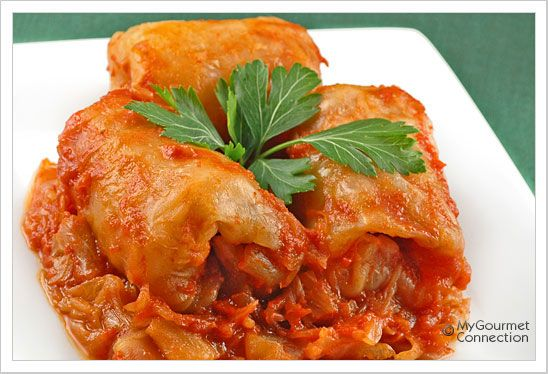 Hungarian Style Stuffed Cabbage Rolls Recipe Hungarian