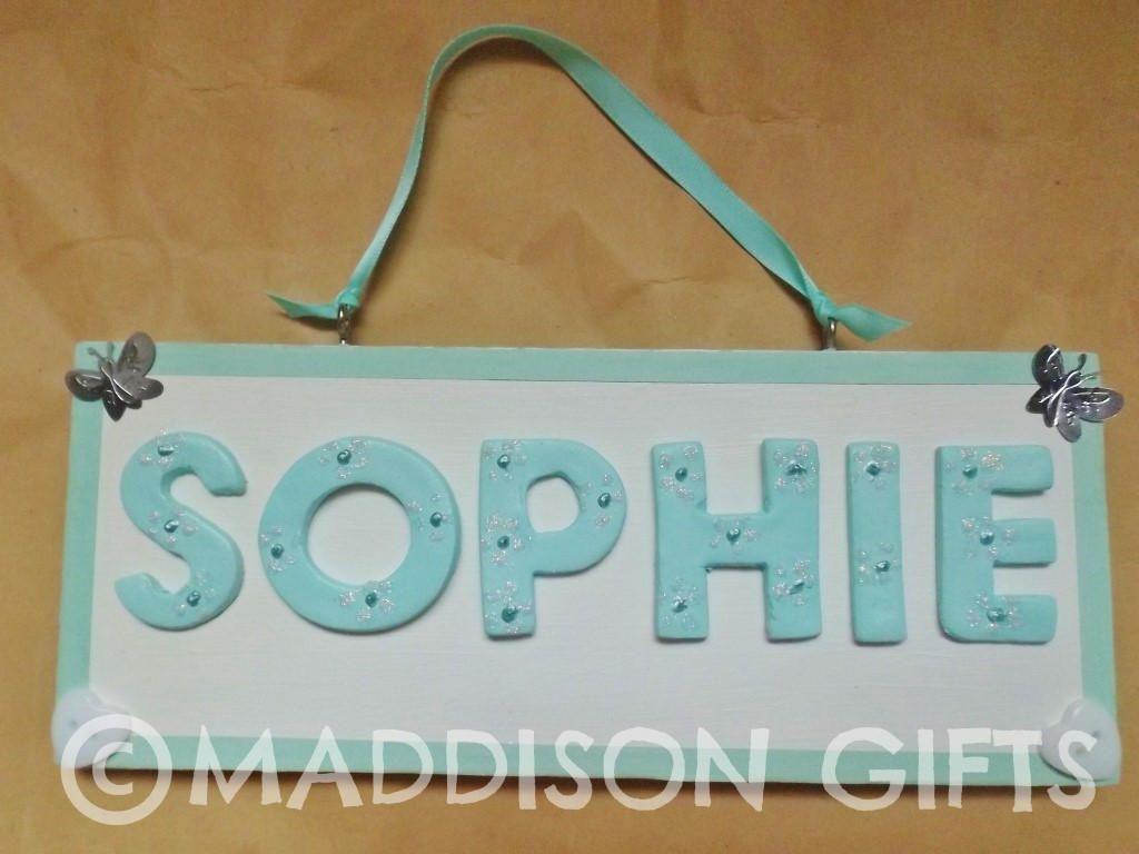 Kids Bedroom Gifts turquoise kids bedroom door plaque personalised name sign wall