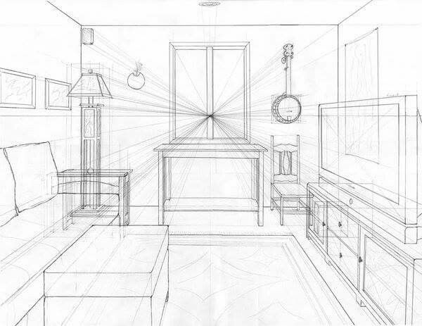 Pinleah Gordon On Drawing Ideas  Pinterest  Perspective Delectable Kitchen Design Drawings Design Ideas