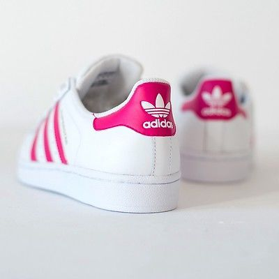 promo code dbffb 49b04 Woman's Adidas Superstar B23644 White & Pink with Gold ...
