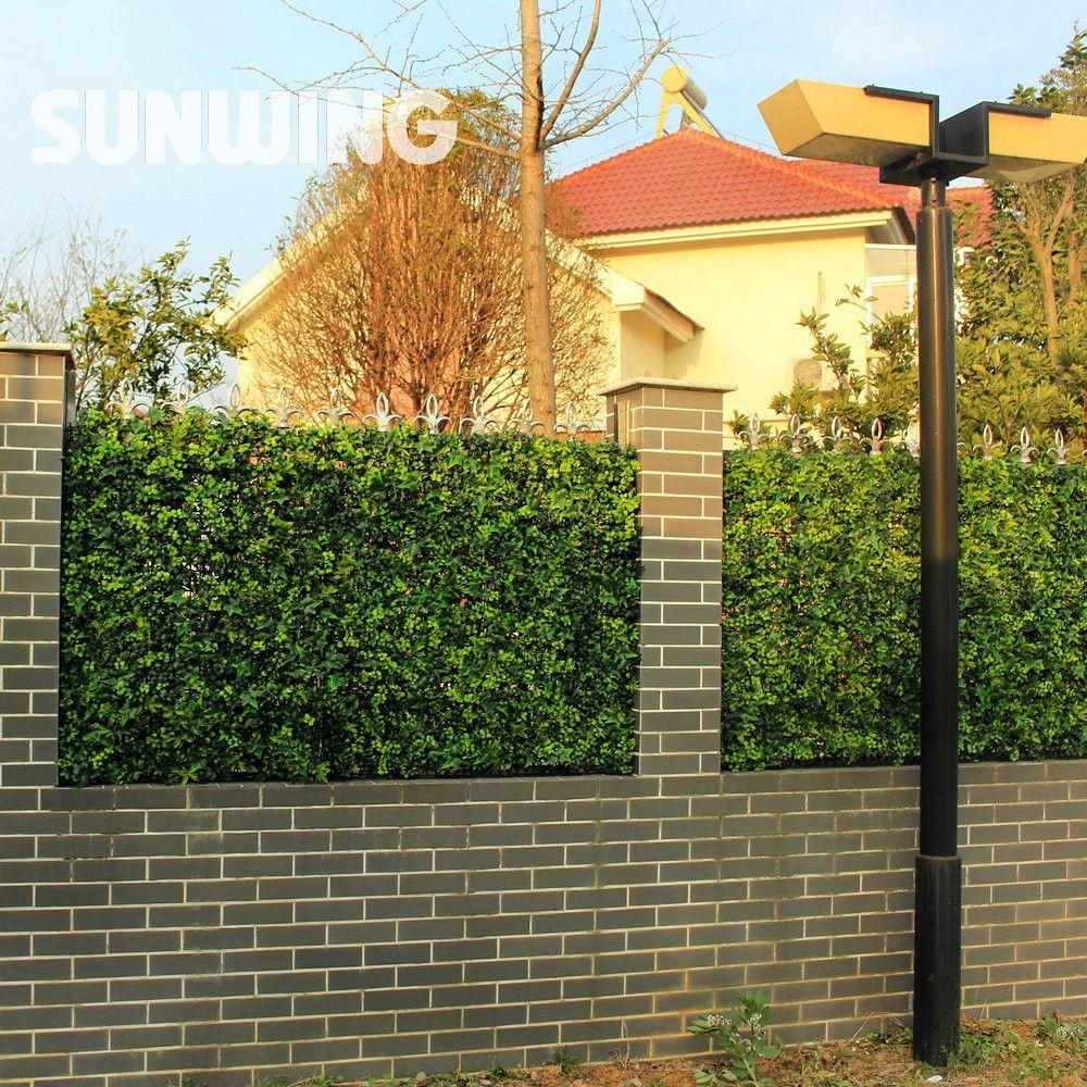 24pcs 25x25cm Artificial Boxwood Hedges Panels Outdoor Plastic Ivy ...