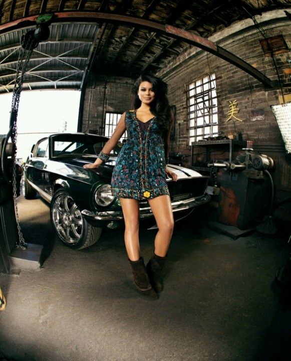 Nathalie Kelley And Mustang From Fast And Furious Tokyo