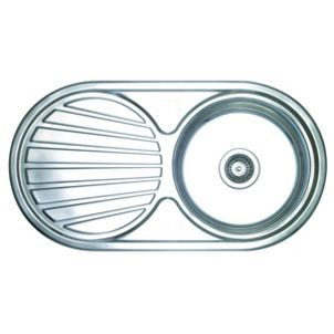 Wickes Single Round Bowl Reversible Kitchen Sink Stainless Steel Co Uk