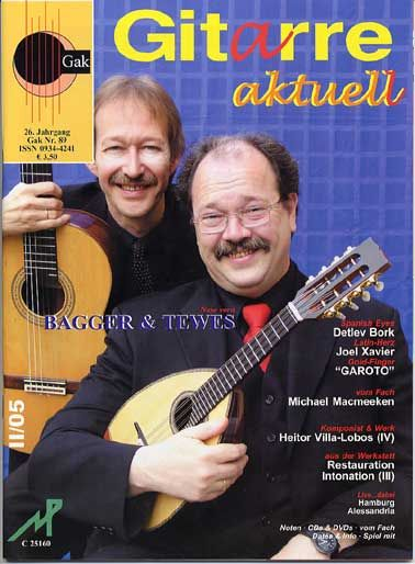 Detlef Tewes played Mandolin for the Ensemble Modern