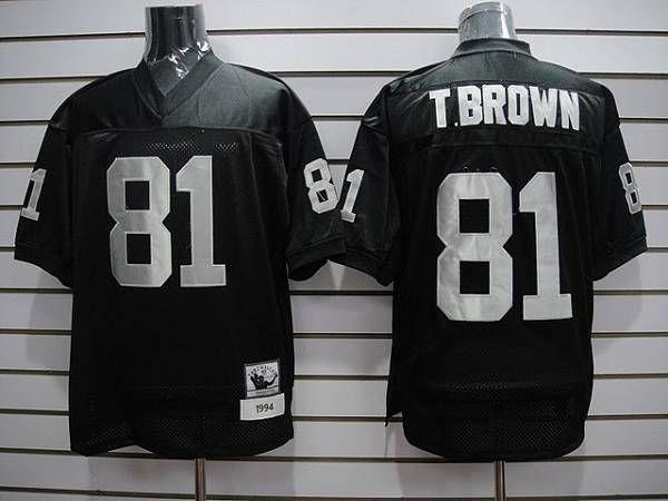 quality design 570e5 82ffa Oakland Raiders #81 Tim Brown Black Stitched NFL Jersey ...