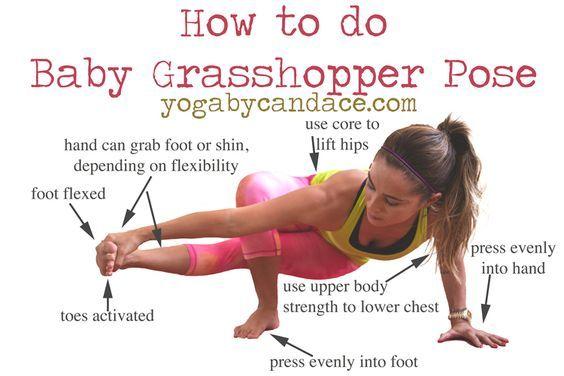 How to do Baby Grasshopper Pose | Yoga