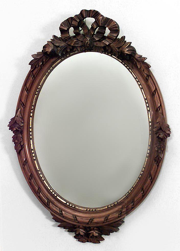 French Louis XVI mirror wall mirror walnut
