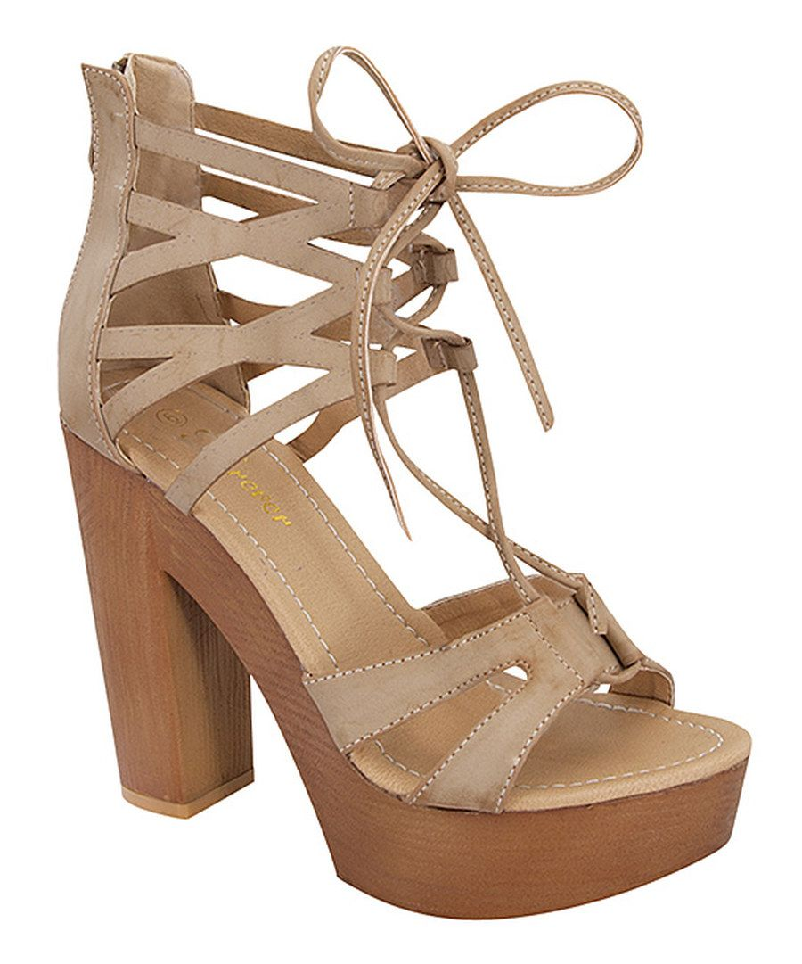 b48af9531d4 Look at this Step Up Shoes Taupe Eileen Ankle-Strap Sandal on  zulily today