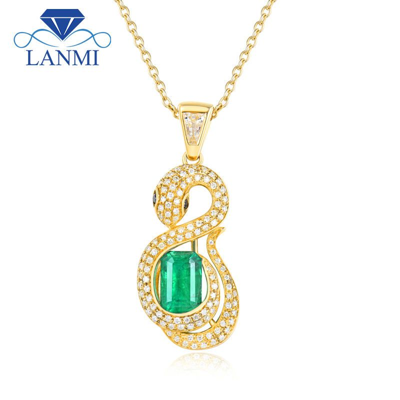 gold luxury natural pendant art greek silver solid yellow emerald handmade sterling cz