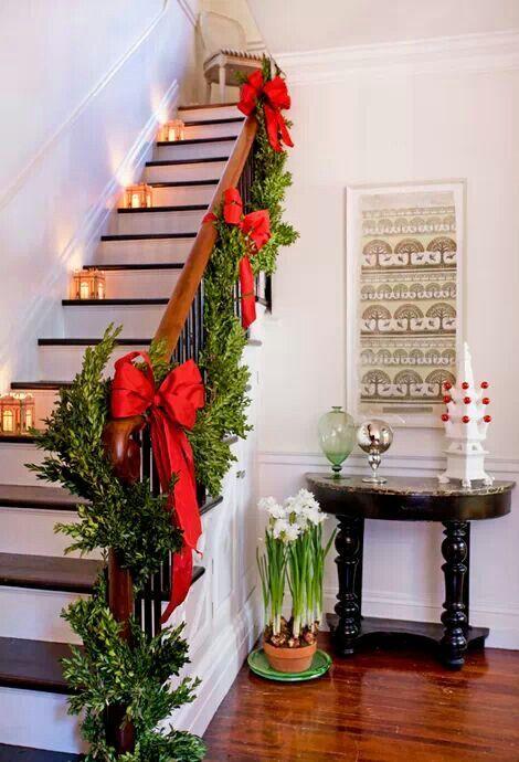 hat leider nicht jeder treppe und treppengelnder lassen sich zu weihnachten sehr wirkungsvoll und einfach - Treppengelander Ideen Fur Treppengestaltung Innen Und Ausen Haus Dekorieren Tipps