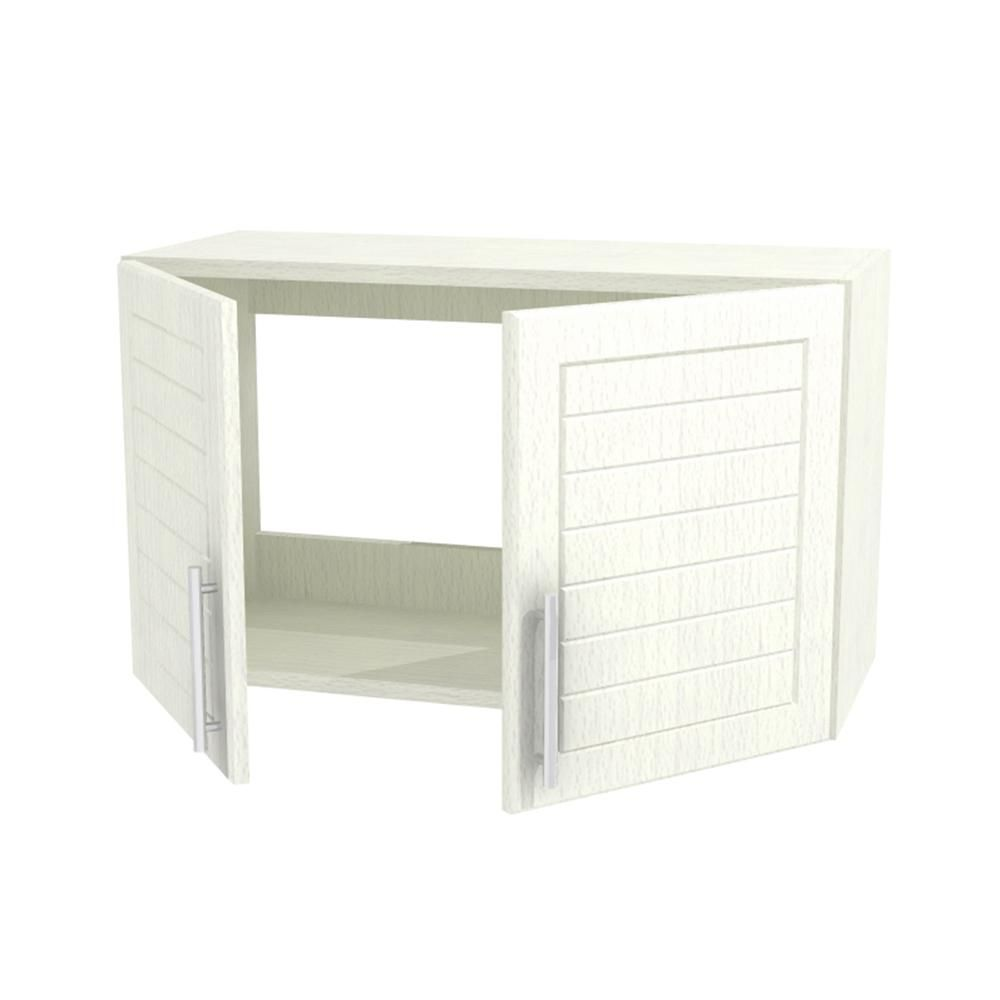 Weatherstrong Assembled 30x15x12 In Key West Open Back Outdoor Kitchen Wall Cabinet With 2 Doors In Radiant White Products