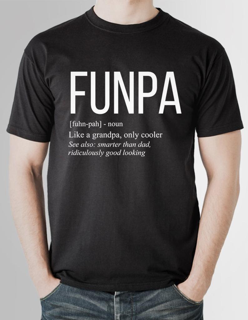 Funpa shirt grandpa birthday gift grandad gifts