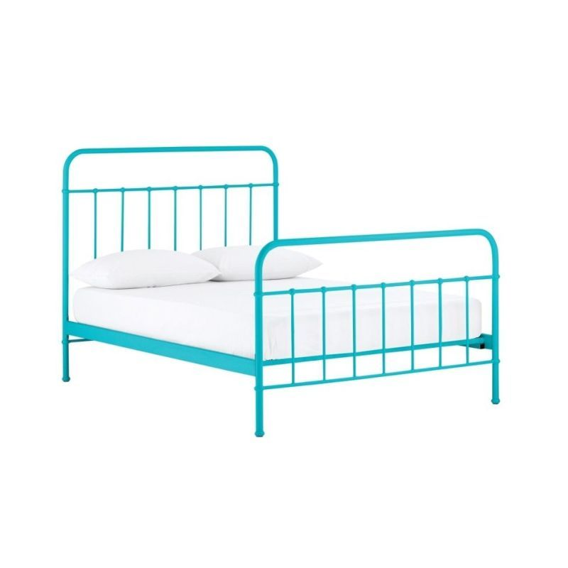 Cumberland King Single Metal Bed Frame In Blue Iron Bed Frame