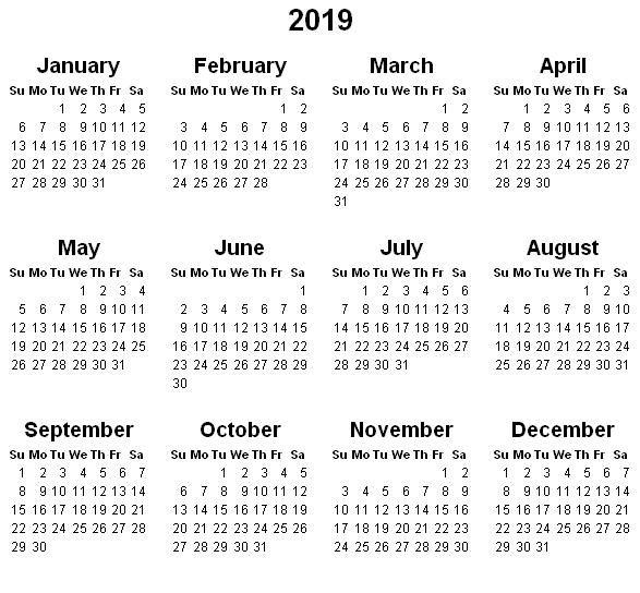 2019 Printable Calendar by Month calendars Pinterest Calendar