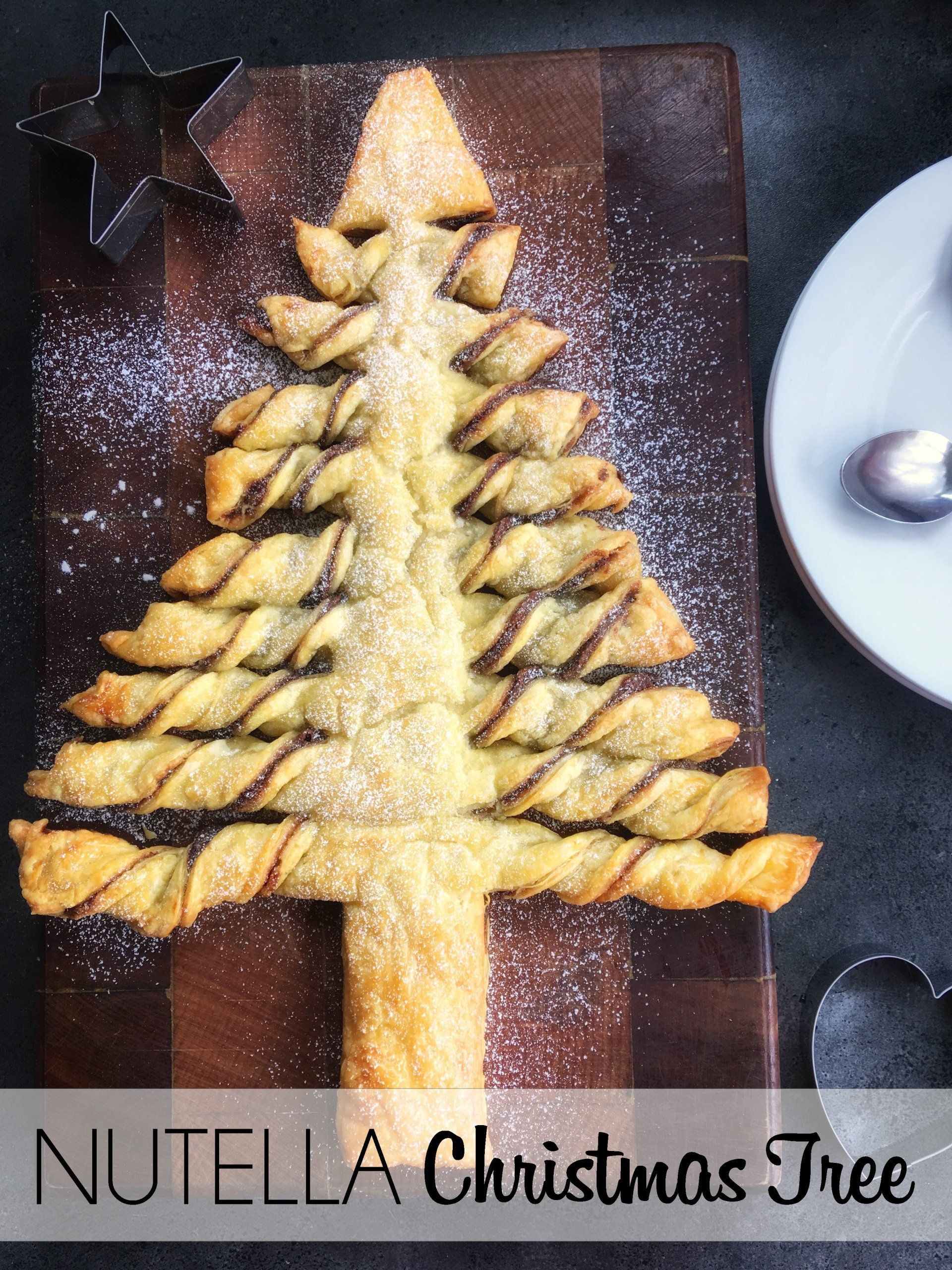 nutella christmas tree pull apart includes substitutes and allergy friendly options