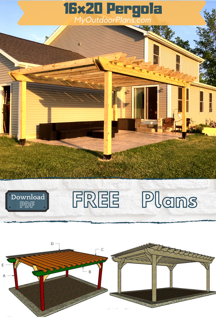 How To Build A 16x20 Pergola Pergola Plans Free Pergola Plans Pergola