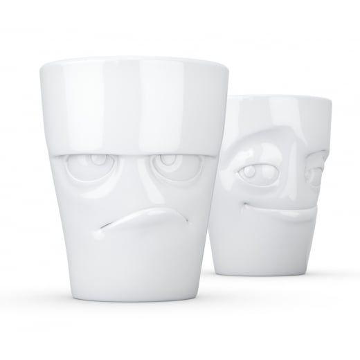 Tassen Grumpy & Impish Face Porcelain Mugs - Set of 2