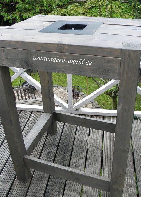 Deko Holz Mobel Unikate Stehtisch Holz Gartentisch Stehtisch