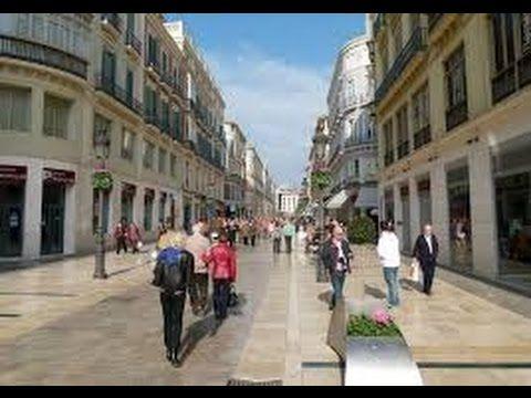 The historic city center of beautiful Malaga, Spain