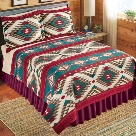 Aztec Fleece Southwest Bedding Coverlet Collections Etc