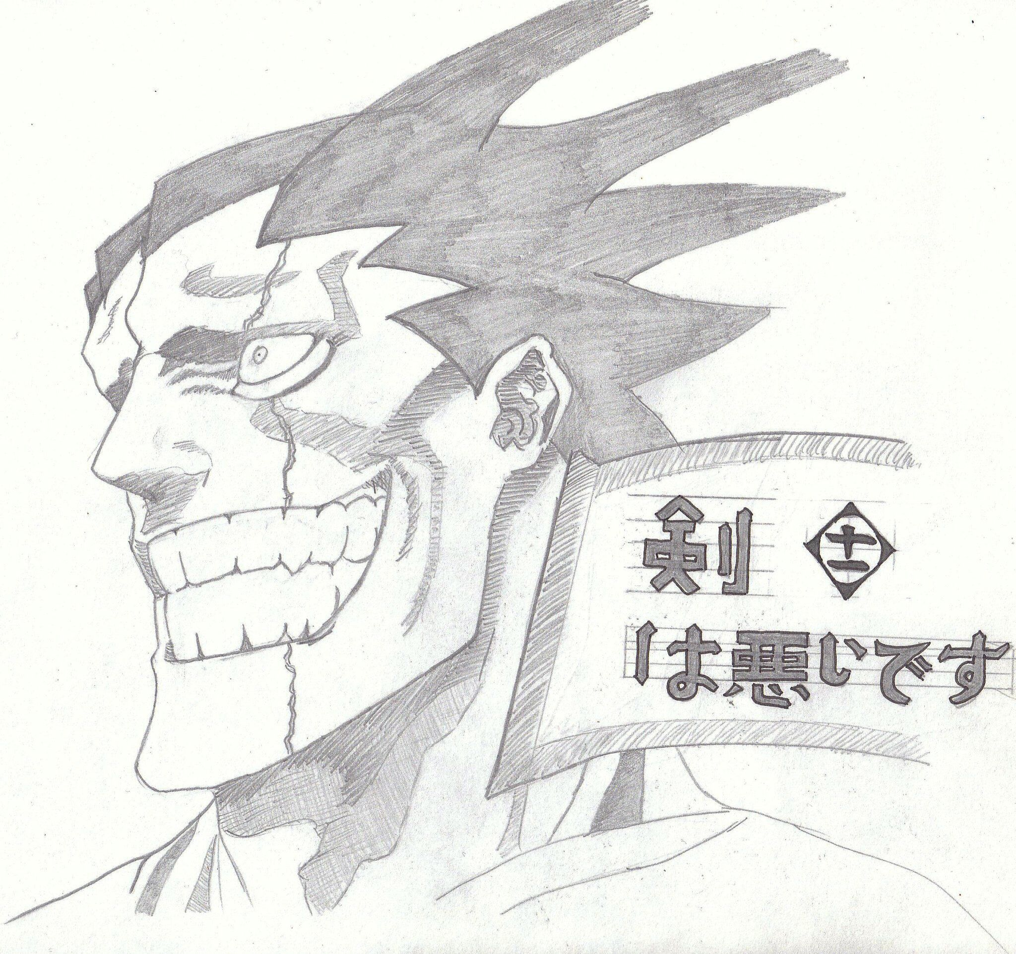 Zaraki Kenpachi is a badass! #bleach (took this image from an old manga I think but it's been a few years)