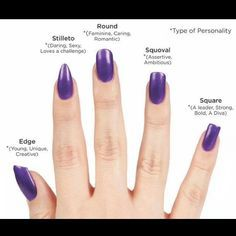 What Your Nail Shape Says About You Squoval Nails Nail Shapes Acrylic Nail Shapes