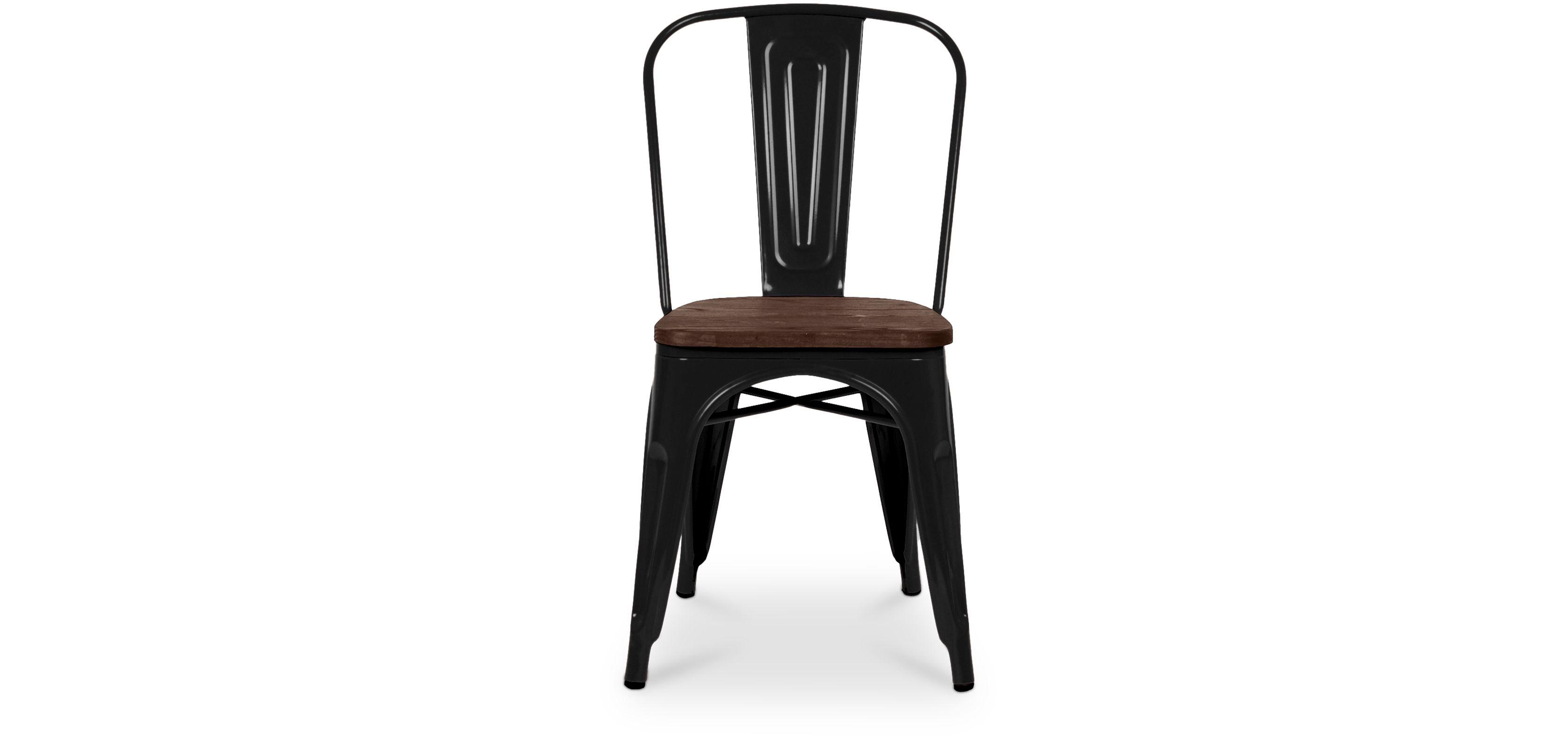 Chaise Tolix Assise En Bois Xavier Pauchard Style Metal Pas Cher Chaise Metal Industriel Chaise Plastique Chaises Tolix