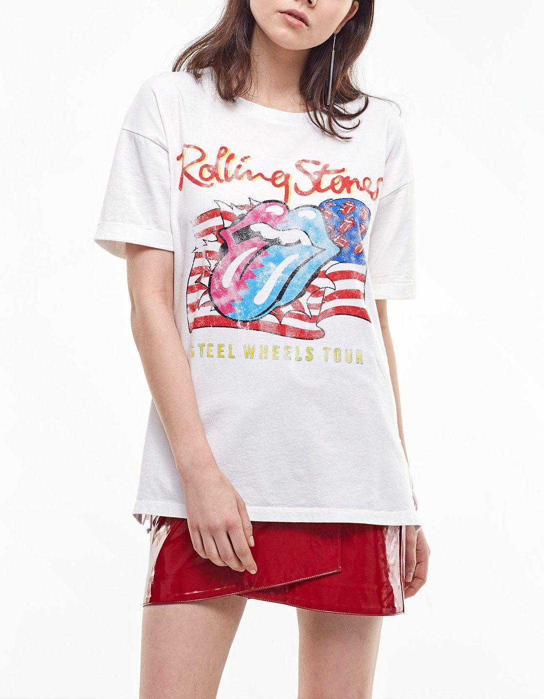 Camiseta rolling lace-up lateral - Ropa | Stradivarius España