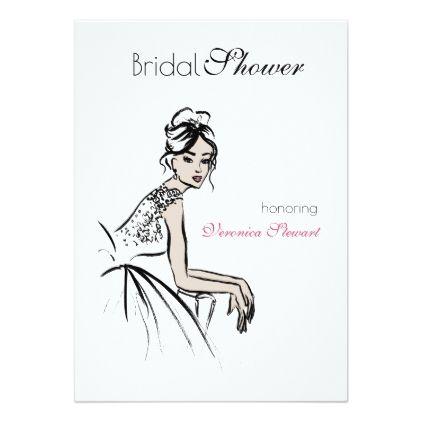 vintage beauty illustration bridal shower card bridal shower gifts ideas wedding bride
