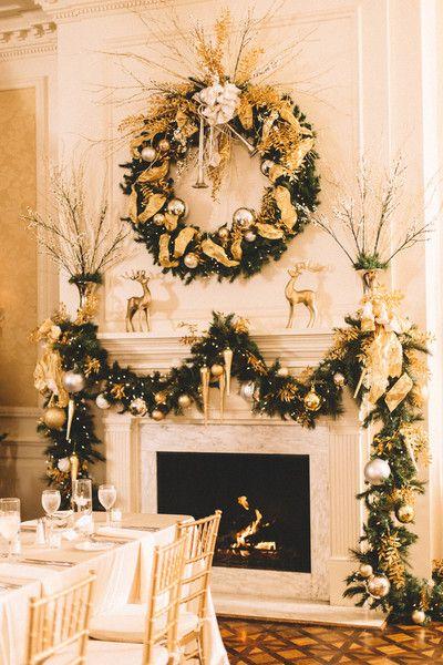 Elegant Charlotte Holiday Wedding Wedding Reception Decor