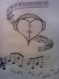 Music Note Drawing In Pencil