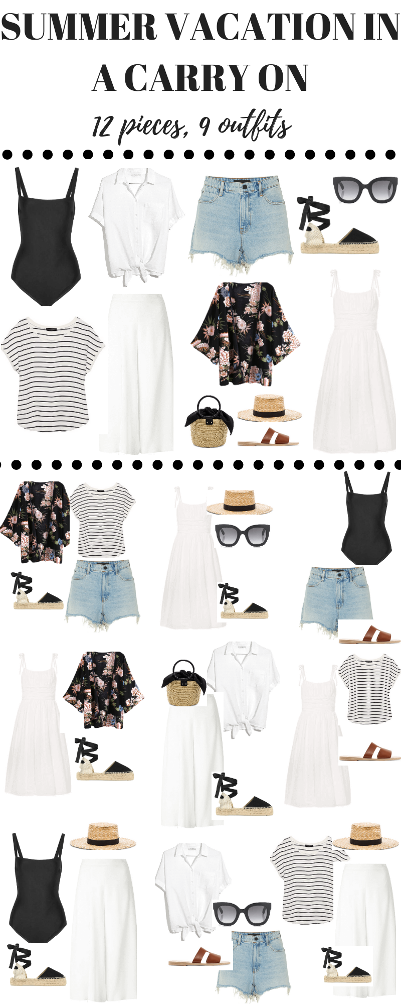 Here are cute summer outfits ideas to show you how you can pack your