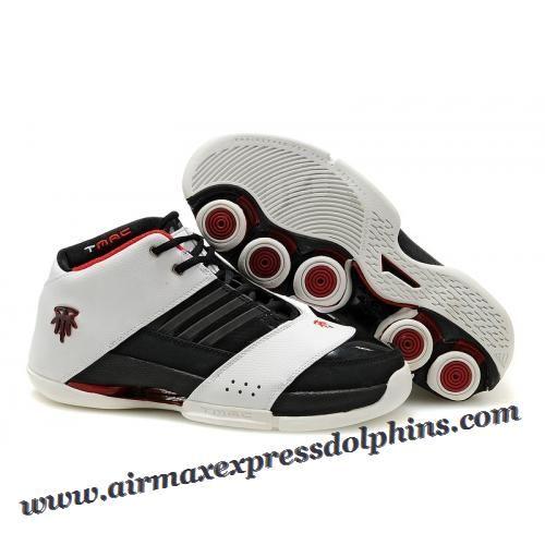 Adidas T Mac 6 Tracy McGrady Shoes White Black Red 2013