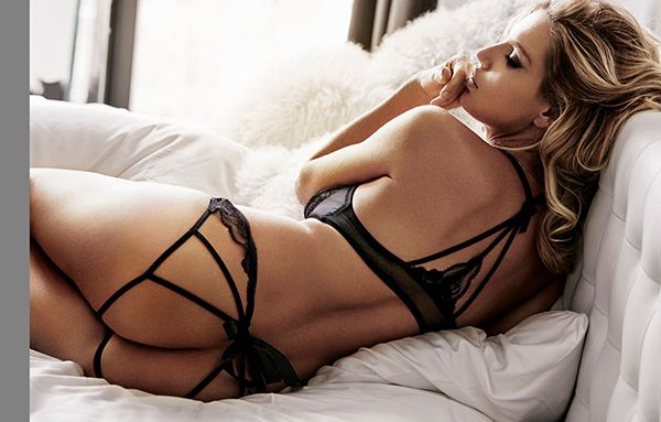 Ultra hot lingerie model