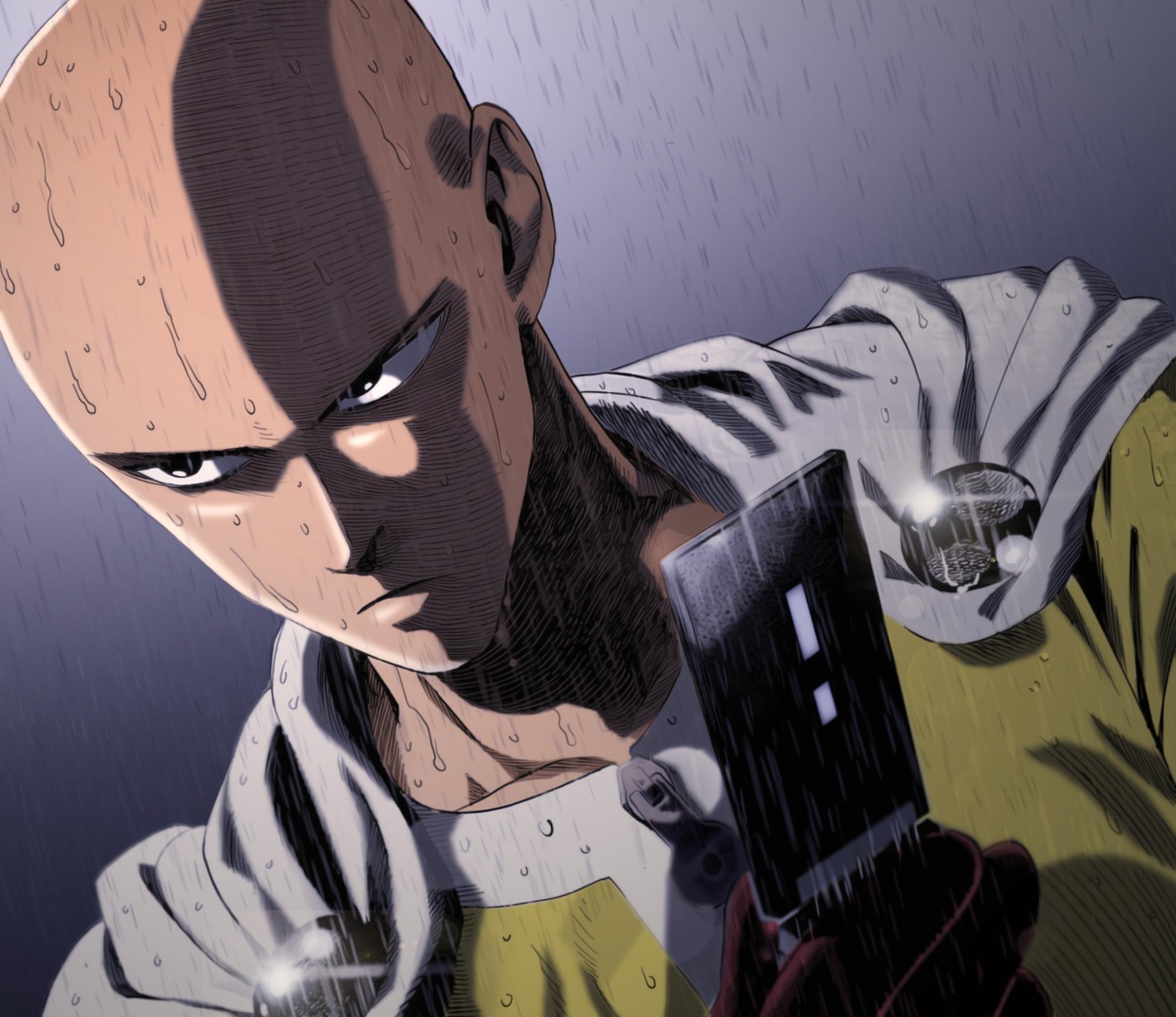 Wallpaper Saitama Serious Anime One Punch Man Hd - doraemon