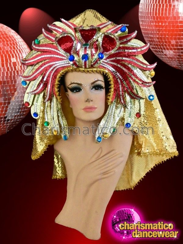 Charismatico Dancewear Store - CHARISMATICO Royal Egyptian crown style golden…