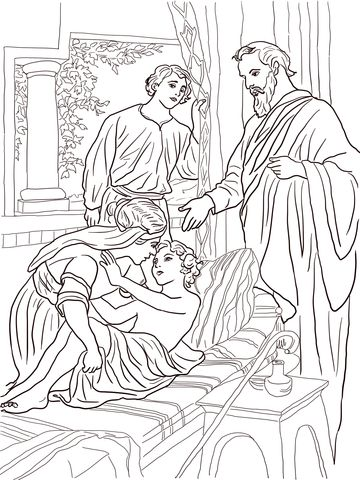 Elisha And The Shunammite Woman Coloring Page