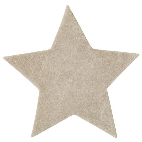 Kurzflorteppich Aus Wolle, L 100 Cm, Beige | Teppiche, Sterne Und