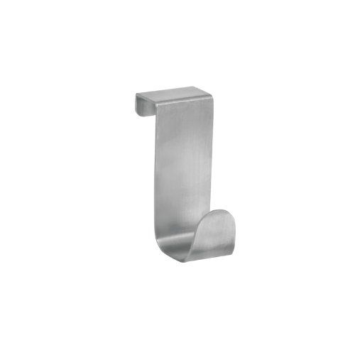 Silver iDesign Forma Over Door Towel Rail Towel Holder for Kitchens and Bathrooms Stainless Steel