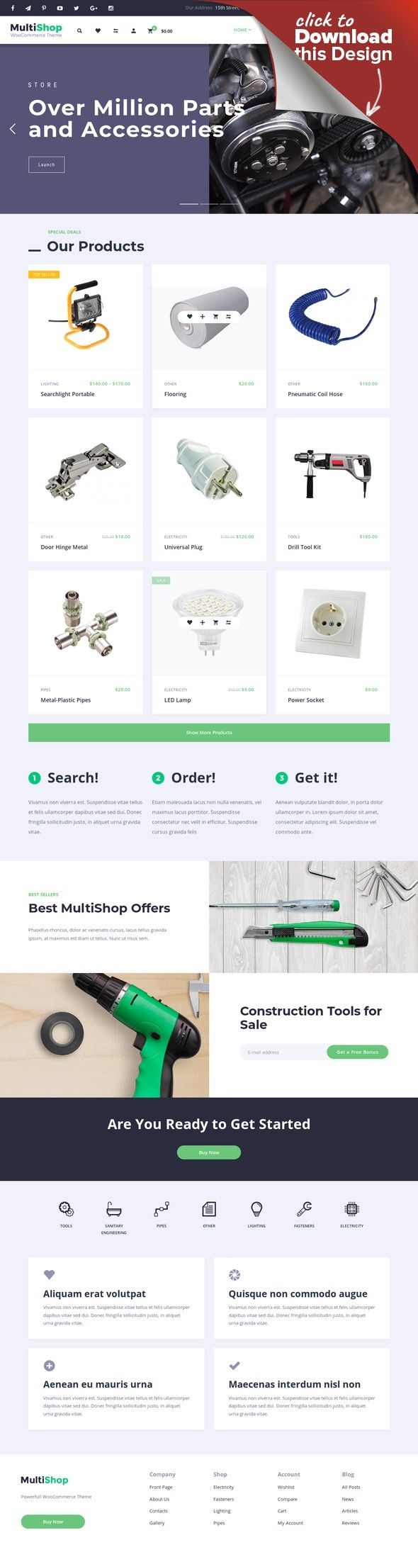 Responsives WooCommerce Theme für Elektronik E-commerce Vorlagen ...