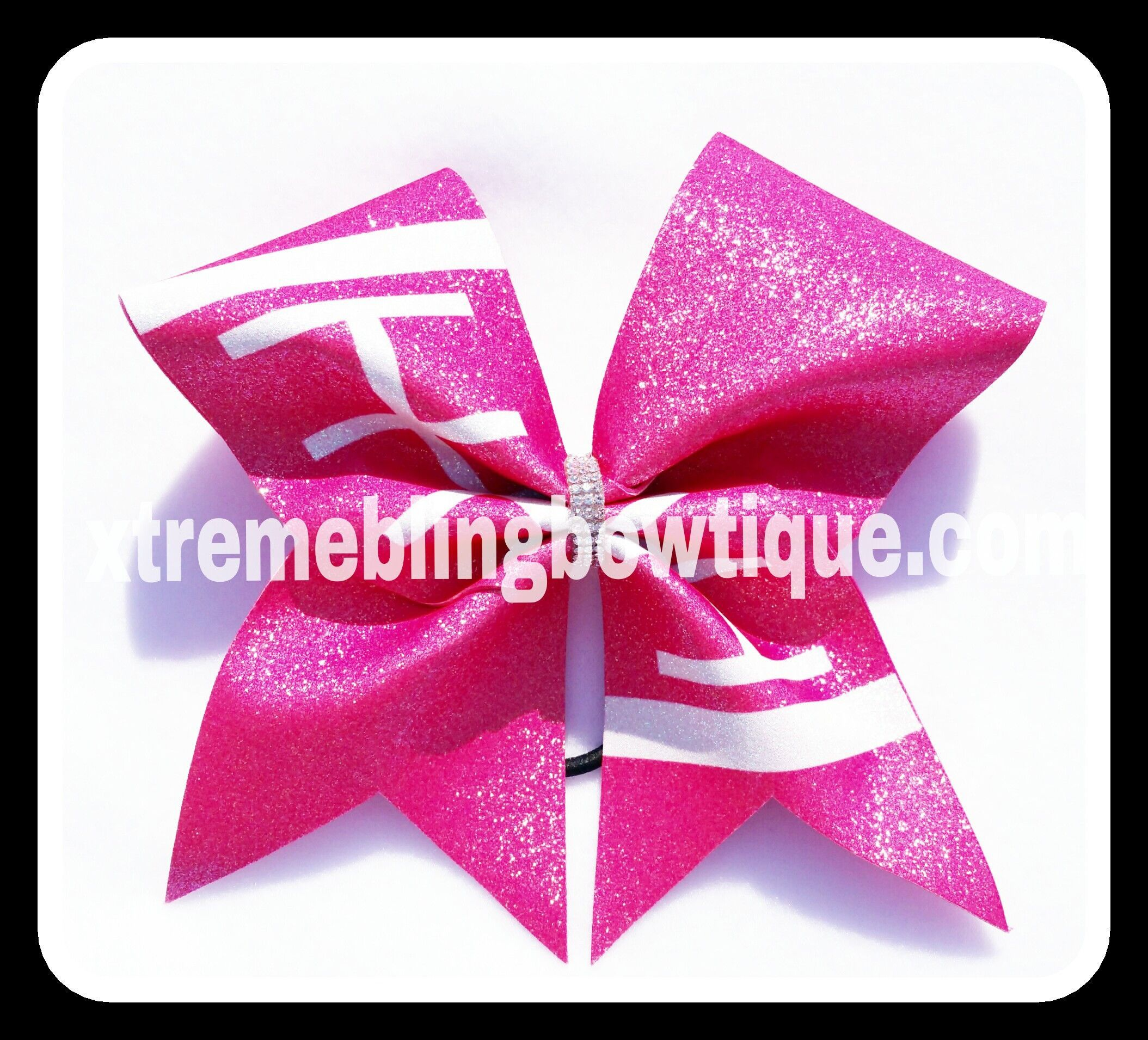 Cheer bow holder for cheer bows and hair bows cheer bow hanger - Cheer Bow Football Breast Cancer Awareness