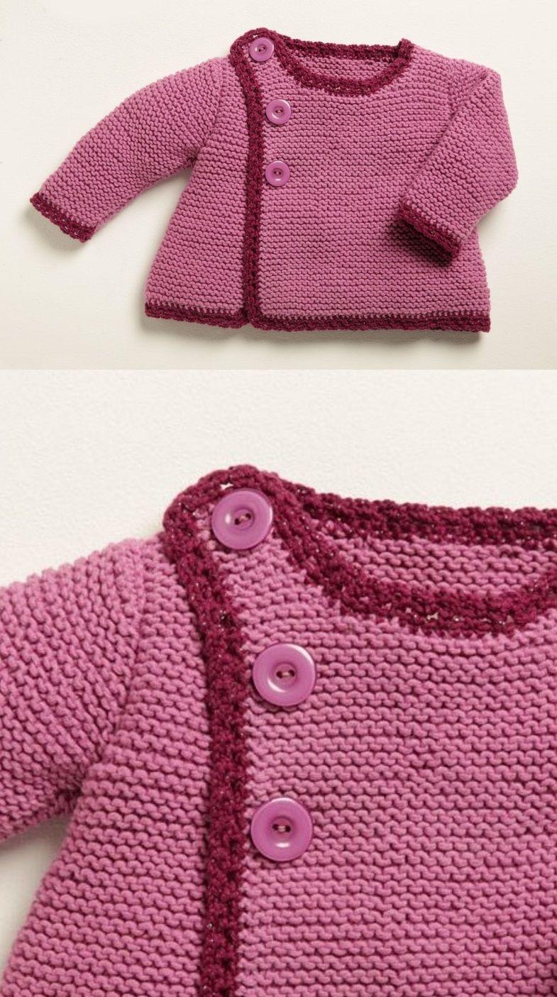 Free Knitting Pattern for Baby Cardigans | Toddler/Child | Pinterest ...