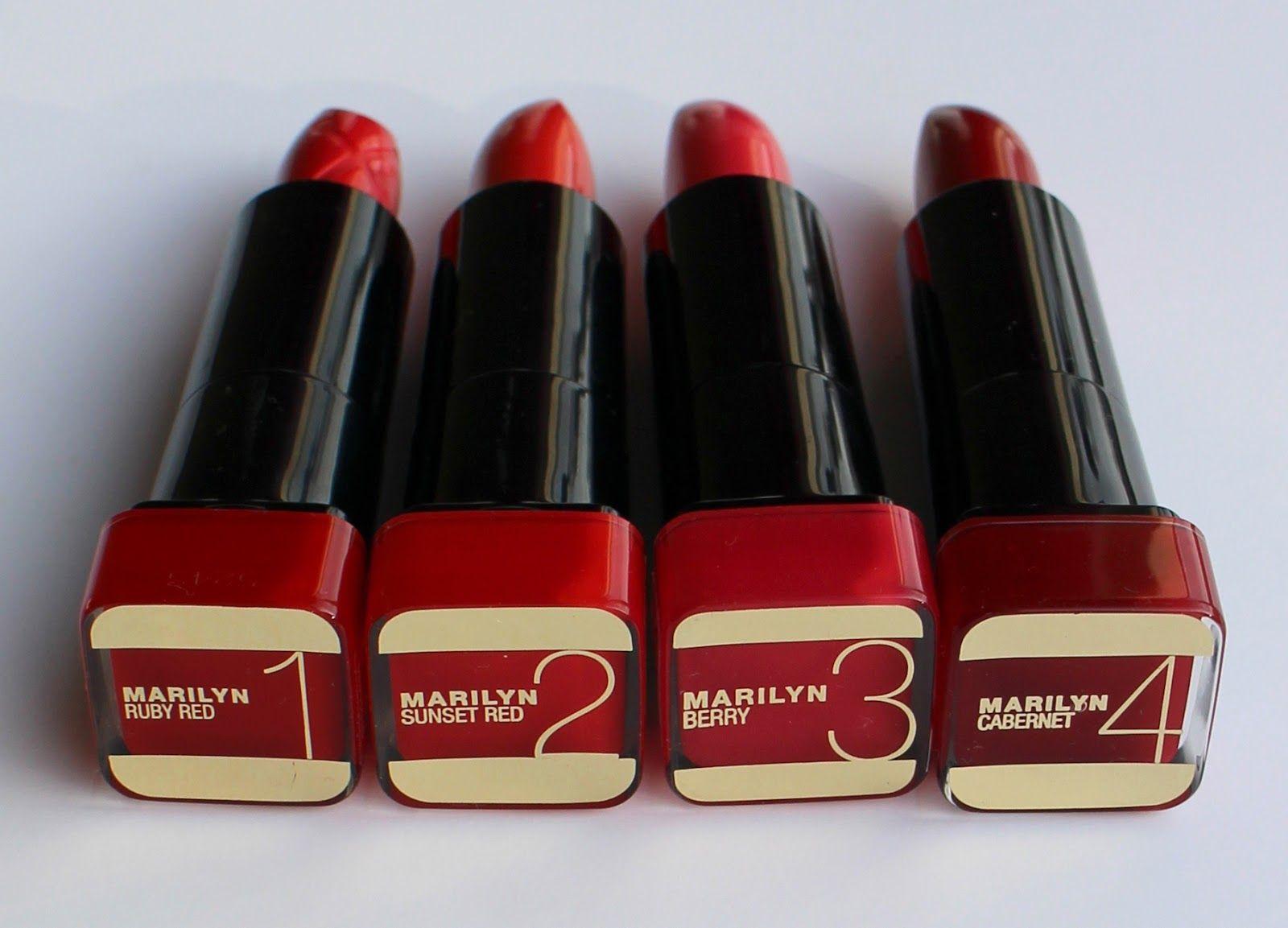 Strawberry Blonde Max Factor Marilyn Monroe Lipsticks