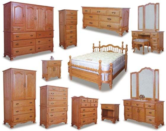 Wraparound Amish Bedroom Furniture Collection   Amish Bedroom ...