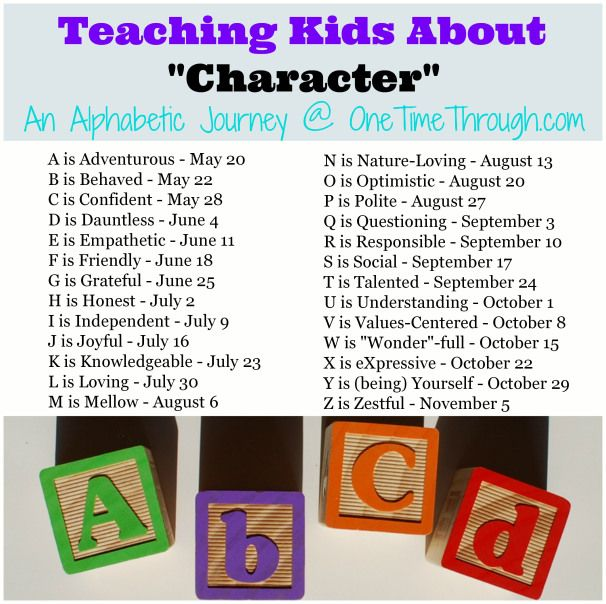 Teaching Kids About Character Traits Positive character traits - positive character traits