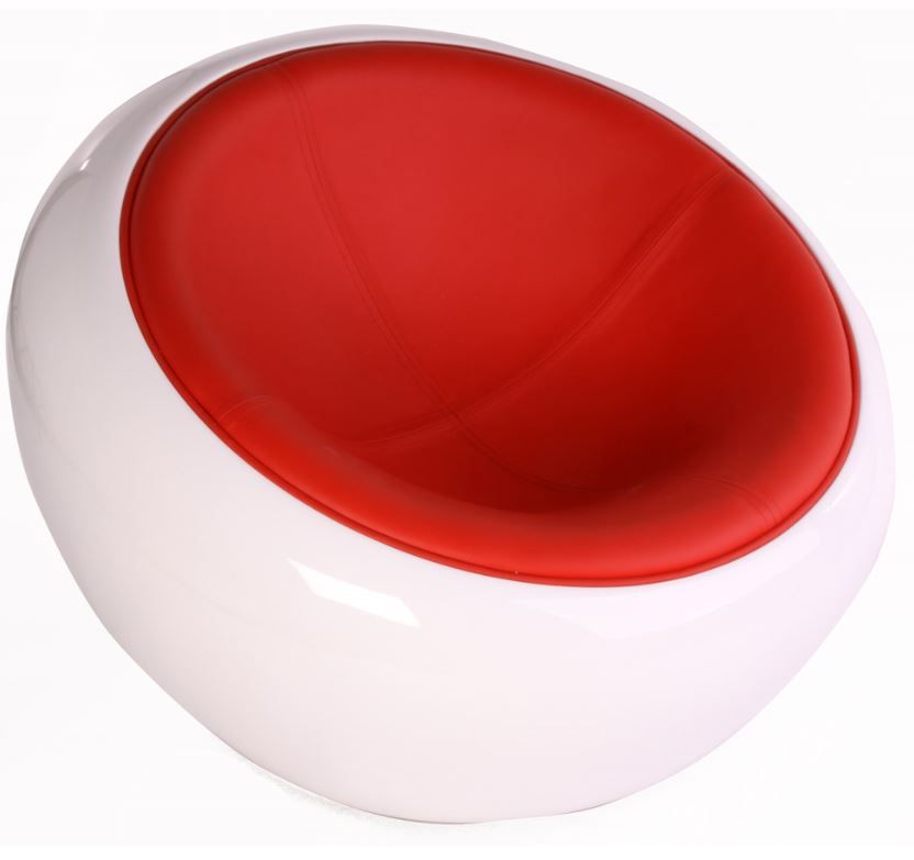 replica eero aarnio half dome chair leather red you deserve the