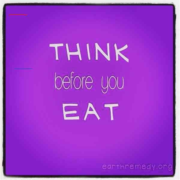 Think before you eat. #vegan #diet #fitness #vegetrian<br>