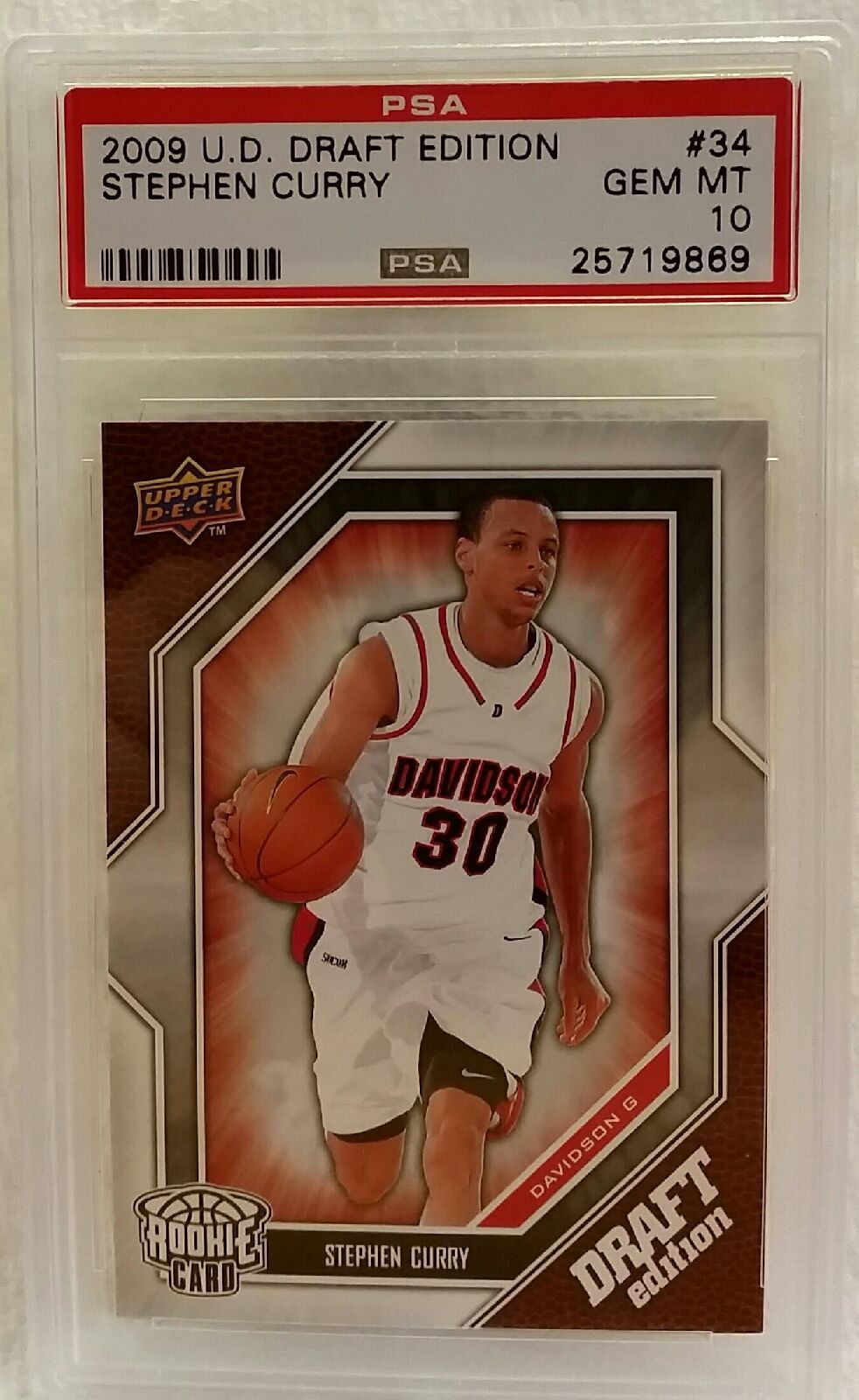 2009 10 Upper Deck Draft Edition 34 Psa 10 Stephen Curry